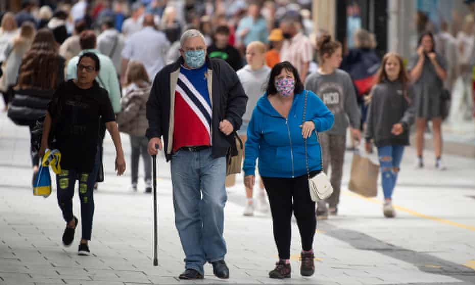 People on a street in Cardiff