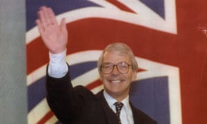 John Major at the Tory party conference in Blackpool.