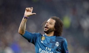Marcelo celebrates after scoring the third.