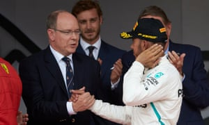 Lewis Hamilton and Prince Albert press the flesh but it is high time they started discussing Monaco's optimal traffic flow.