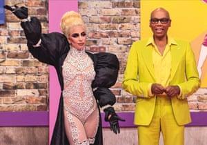 RuPaul with Lady Gaga.