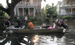 Old New Orleans neighbourhoods such as the Garden District were flooded by Katrina – but not affected as badly as newer, lower-lying areas.