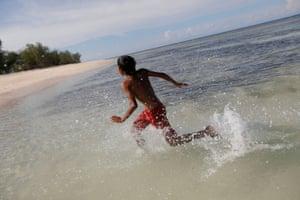 Boy in sea