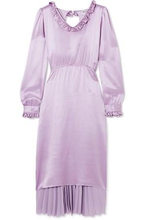 Ruffled silk-satin dress, £2,335, by Balenciaga available at Net-a-Porter.