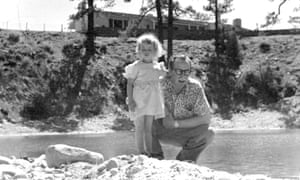 Dalton Trumbo with Mitzi on the ranch in 1948.