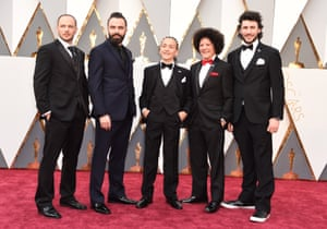 It's nice that the members of nominated short film Shok have turned up dressed as members of N*Sync.