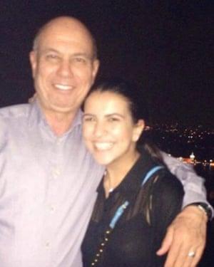 Kamal Eldarat with daughter Amal.