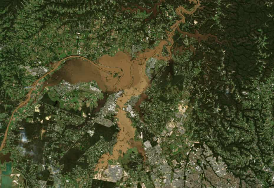 Flooding along the Hawkesbury River.