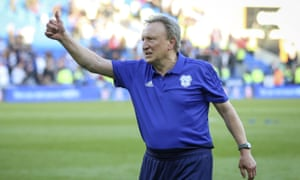 Cardiff City's manager Neil Warnock shows his appreciation for fans with whom he has a strong bond, after the defeat by Crystal Palace which sent the club down.