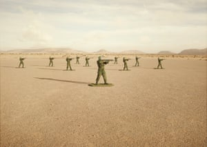 Toy Soldiers Budraiga No 2. Toy Soldiers is a collaboration between a military commander and an artist that uses real soldiers, posed as toy soldiers, to investigate the impact, legacy and dehumanising effects of war. The series is set in Western Sahara, where conflict has continued for more than 40 years