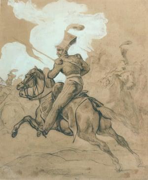 Géricault's Charging Polish Lancer c 1818.