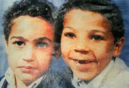 Actor and director Anthony Ekundayo Lennon as a boy, with his brother Vincent