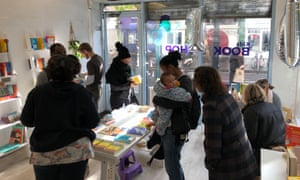 customers at the Knights Of popup bookshop in Brixton market, which attempts to redress chronically imbalance representation by only selling books with non-white protagonists.