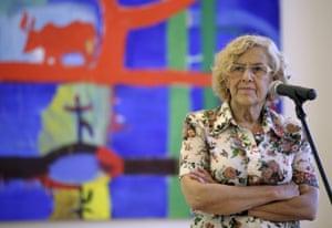 Madrid's mayor, Manuela Carmena at the town hall.