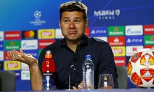 Mauricio Pochettino, manager of Tottenham Hotspur speaks to the media at his post-match press conference.