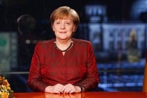 Angela Merkel's televised new year's address.