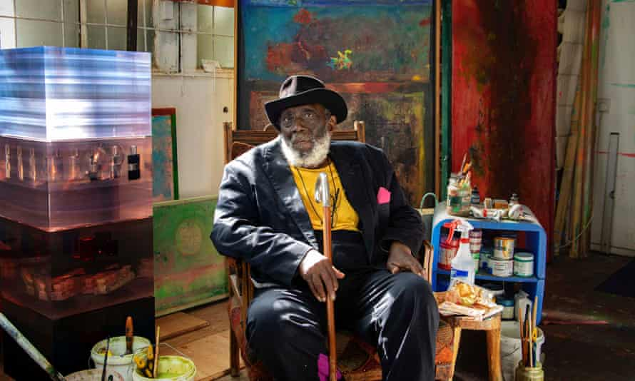Sir Frank Bowling is one of the artists taking part in the project.