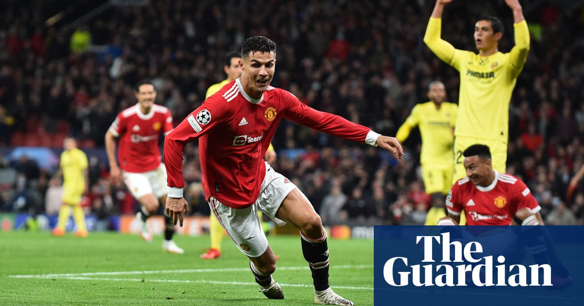 Cristiano Ronaldo rescues Manchester United late on to see off Villarreal