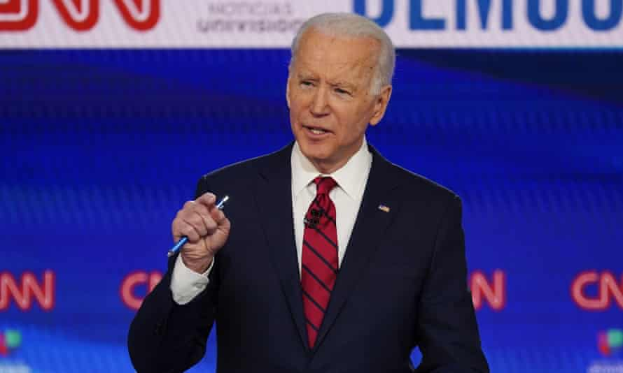 Joe Biden is presumed to be the Democratic presidential nominee after Bernie Sanders dropped out and being favored in early Wisconsin results.