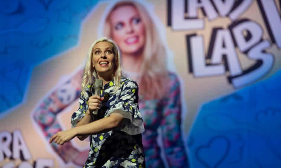 'Standup is your diary. You just work out which bits to tell people': Sara Pascoe, performing LadsLadsLads.
