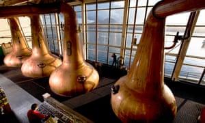 The Caol Ila whisky distillery on Islay, Scotland.