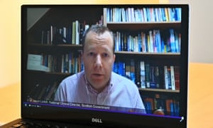 Jason Leitch, national clinical director of the Scottish government, in a virtual session on Scottish Parliament TV
