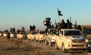 Islamic State fighters in Raqqa