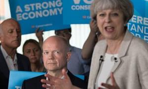 William Hague and Theresa May