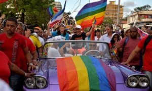 Mariela Castro (in car, on left), at Havana's Gay Pride last year.