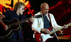 The Who … Roger Daltrey and Pete Townshend dealing with the difficulties of Glastonbury.