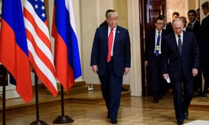 Trump and Putin in Helsinki. The US president made repeated references to the start of a new era.