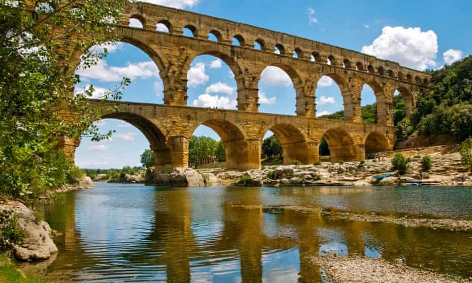 Pont du Gard, Nîmes, France.