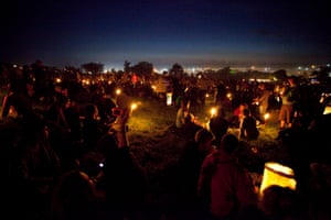Night time at the stone circle 2010