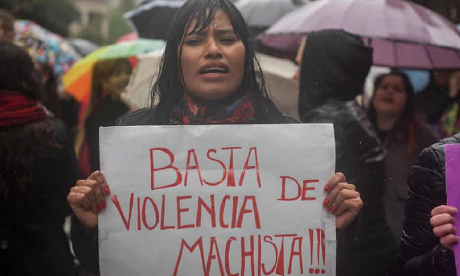 A strike against violence against women in Buenos Aires, October 2016