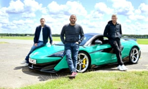Top Gear Paddy McGuinness, Chris Harris and Freddie Flintoff