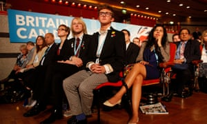 Young Conservatives at the Tory party conference (Photo by Gideon Mendel/Corbis via Getty Images)