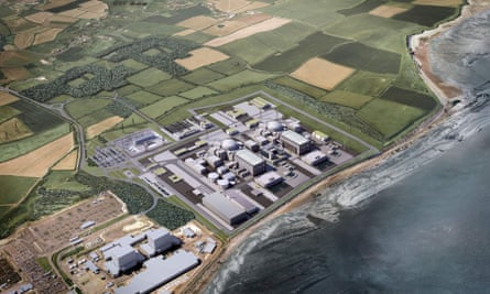 A computer generated image of Hinkley Point
