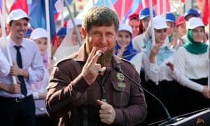 Chechnya's leader Ramzan Kadyrov.
