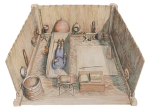 An artist's impression of the burial chamber in Essex.