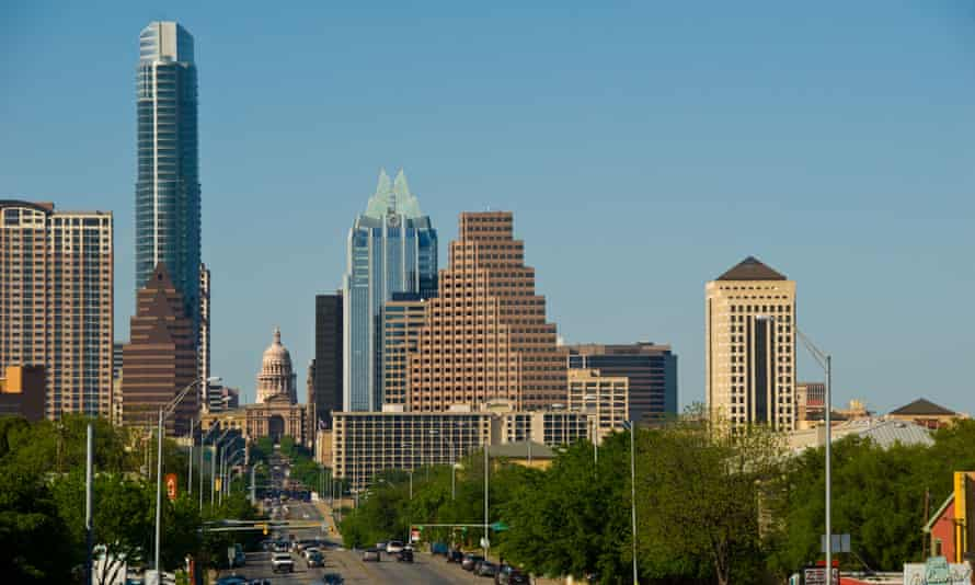 Congress Avenue, a major thoroughfare, leads to the Texas state capitol in downtown Austin. A study points to a racial disparity in police use of force incidents in the city.