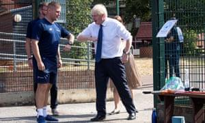 Boris Johnson visits Sacred Heart of Mary Girls' School in Upminster.