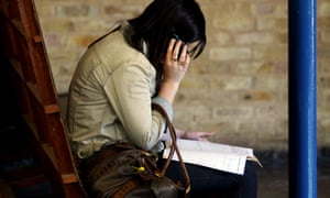 A student on the phone after receiving her GCSE results.