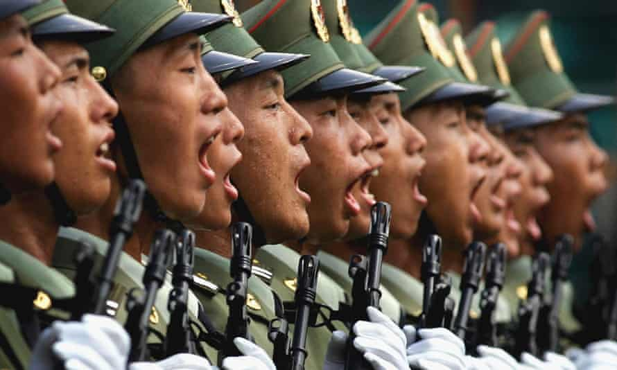 Aijun is a soldier in the People's Liberation Army of China.