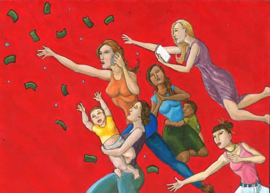 The final image of a triptych titled Prison Profit-Tears by Paul V Cortez.