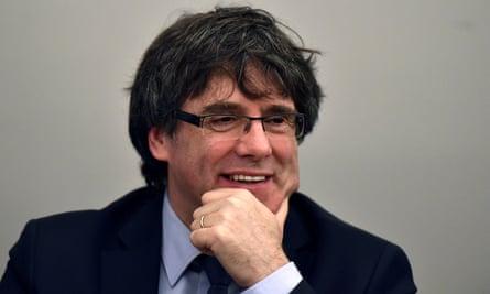 Former Catalan leader Puigdemont
