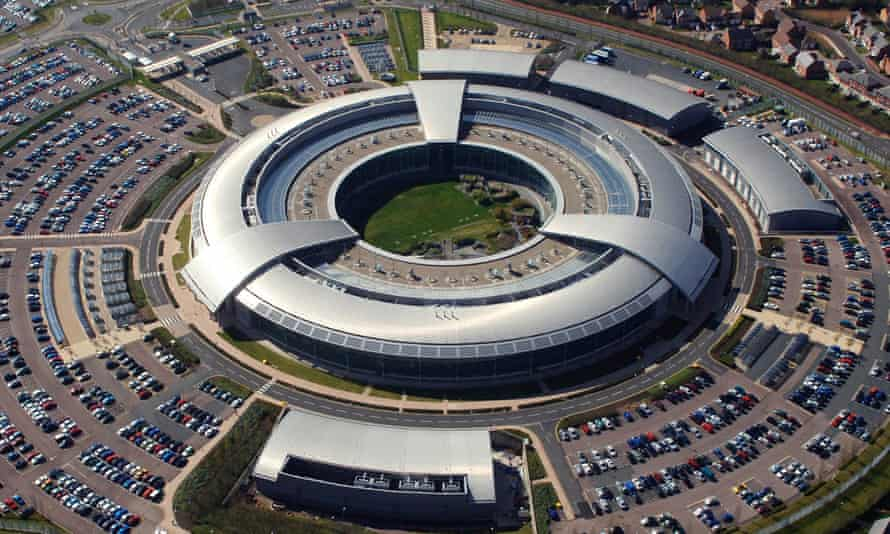 An aerial image of GCHQ headquarters in Cheltenham, Gloucestershire
