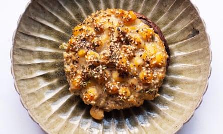 Popular pick: mushrooms, chickpeas, tahini.