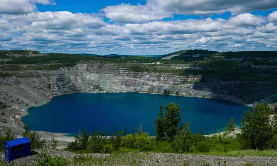 The former mine in Asbestos in Quebec. It ceased operations in 2011.