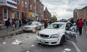 The aftermath of protests following the death of Freddie Gray.