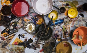 Artists can take up to four hours to decorate performers with oil paints